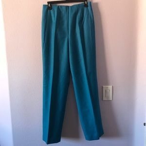 New vintage turquoise Chadwick's wool trousers
